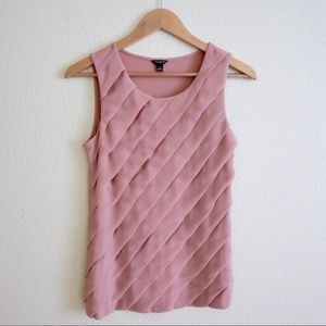 Ann Taylor Mixed Material Tank Top